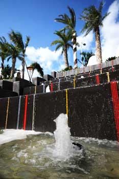 fontane e giochi acqua a cascata